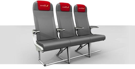 Los nuevos asientos de Iberia Express.