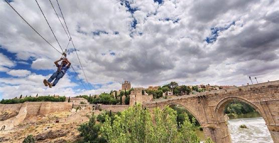 La Gran Tirolina Toledo, asociada al Convention Bureau, ya está abierta para los turistas