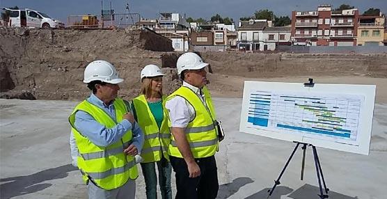 Las obras del Centro de Ferias y Congresos de Lorca se aceleran al establecer un doble turno de trabajo