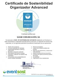 Quum Comunicación obtiene la certificación Advanced de Eventsost en materia de sostenibilidad