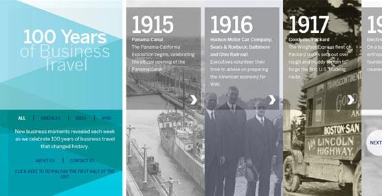 American Express Global Business Travel revela los 100 momentos de los viajes de negocios que cambiaron la historia