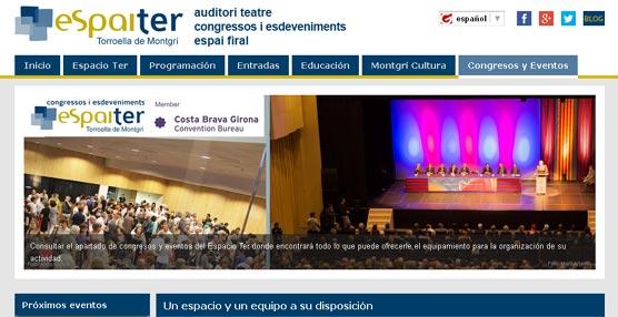 La sede L'EspaiTer de Gerona abre un nuevo apartado de organización de eventos en su página de Internet