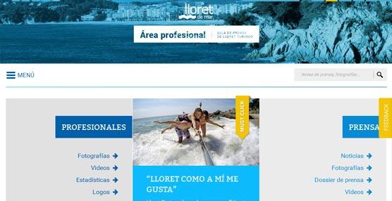 La nueva página para profesionales de Turismo de Lloret de Mar.