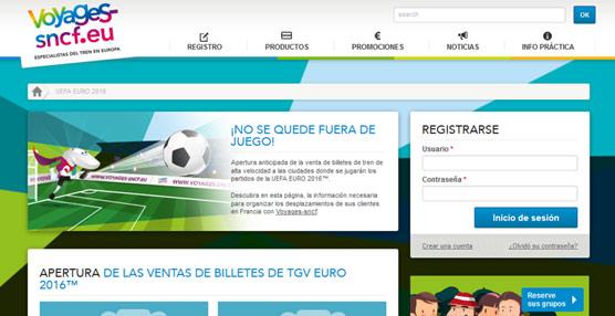 Votages-Sncf crean un 'portal' para agentes especializado en la venta de billetes de tren para la Eurocopa de 2016