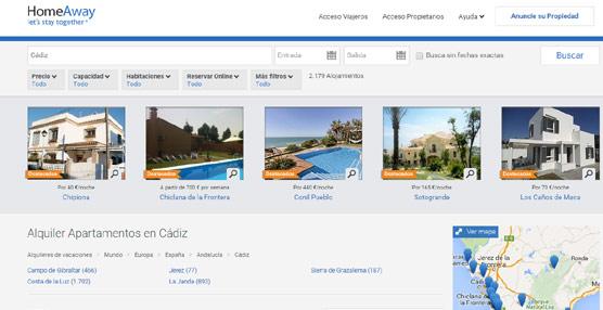 La demanda de alojamiento turístico vuelve a crecer en todo el país y se desplaza hacía la costa mediterránea, según HomeAway