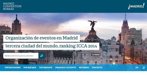 El Madrid Convention Bureau renueva su 'web' que incluye como novedad un buscador de servicios