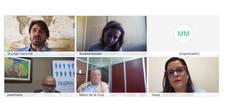 Imagen de la reunión online con Yaiza Castilla.