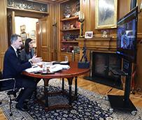 Los Reyes mantienen una reunión 'online' con la patronal hostelera
