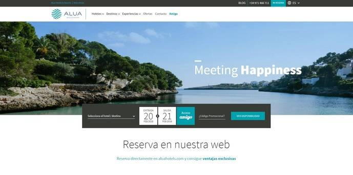 Alua Hotels & Resorts potencia la venta directa en su nueva web