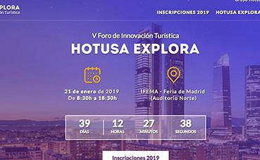 Hotusa Explora marcará el arranque de Fitur 2019