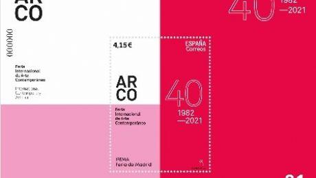 Correos presenta un sello dedicado al 40 aniversario de ARCOmadrid