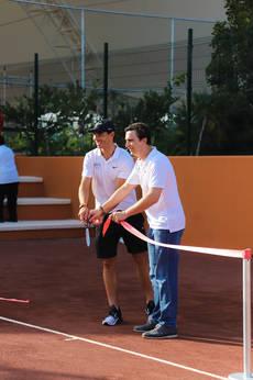 Rafael Nadal y Abel Matutes.