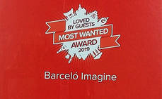 Barceló Imagine premiado en Loved by Guest Award 2019