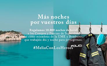Meliá anuncia una segunda acción de su campaña 'Meliá con los Héroes'