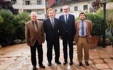 De izda a dcha: Manuel Cornax Campa, Manuel Otero (presidente saliente), Luis Callejón, y Juan Zapata.