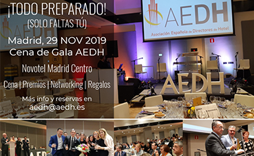 La AEDH celebra su Cena de Gala en el Novotel Madrid Center