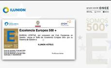 Ilunion Hotels, primera cadena que obtiene el Sello de Excelencia Europea