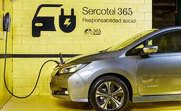 Sercotel incorpora puntos de recarga para coches