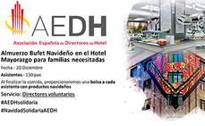 AEDH, Hotel Mayorazgo y Obra Social La Caixa promueven un almuerzo solidario