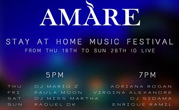 Amàre Hotels presenta su Stay at Home Music Festival