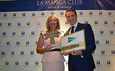 Marcelo Bottini y Linda Savage, ganadores del 19ª Open de Golf de La Manga Club