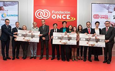 Fundación Once e Ilunion apoyan a tres entidades sociales con el programa 'Gracias a ti'