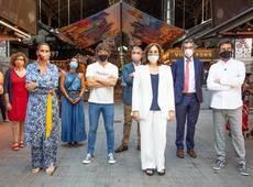 Samantha Vallejo-Nájera, Pepe Rodríguez, Jordi Cruz,Ada Colau,Jaume Collboni,Eduard Torres,Xavier Marcéy Marian Muro.