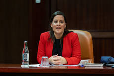 La consejera de Turismo, Industria y Comercio del Gobierno de Canarias, Yaiza Castilla.