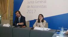 El consejero delegado, Luis Maroto, con la directora financiera, Ana de Pro.