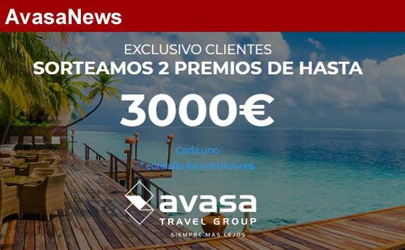 Avasa Travel Group regala dos viajes de hasta 3.000 euros