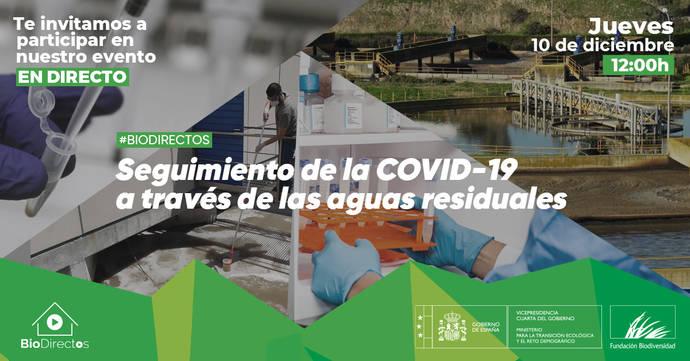 Evento online: #Biodirectos-Seguimiento de la Covid-19 a través de las aguas residuales