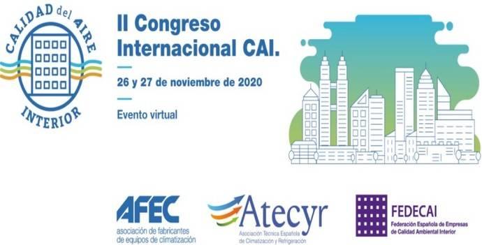 Medidas para mejorar la calidad de aire interior en centros sanitarios, educativos... en el II Congreso Internacional de CAI