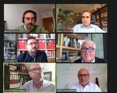 Reunión de los directivos en el debate de ObservaTUR.