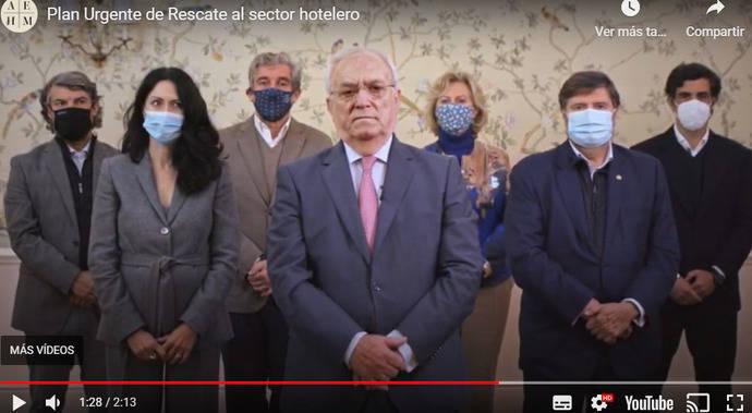 La AEHM pide, a través de un vídeo, un Plan de Rescate Hotelero
