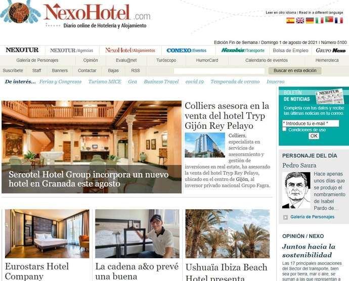 NexoHotel.com cierra por vacaciones hasta septiembre