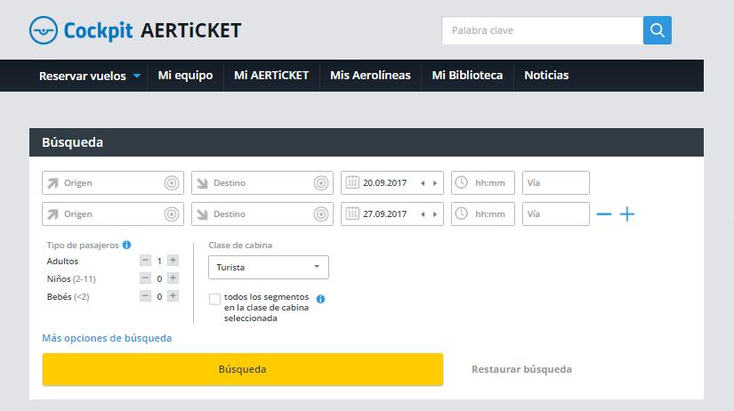 Aerticket activa Cockpit para las agencias españolas