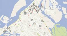 Mapa interactivo con la ubicación de los hoteles propuestos por Dit.