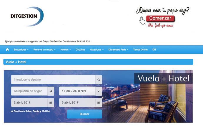 Dit Gestión lanza un nuevo motor para reservar 'paquetes'