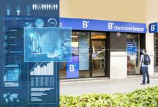 Cartelería digital en las tiendas de B the travel brand