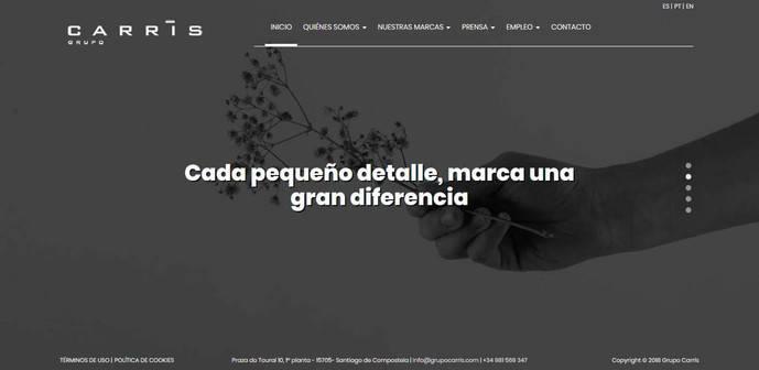 La nueva 'web' del Grupo Carrís engloba todas sus unidades de negocio