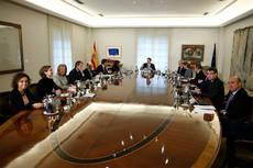 Primera reunión de los miembros del Gobierno de la nueva legislatura.
