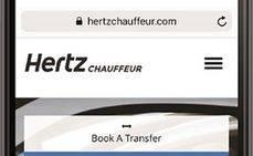 Hertz lanza en Asia su nueva 'web' Hertz Chauffeur
