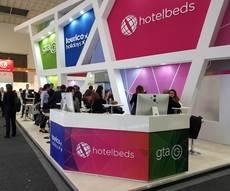 Stand de Hotelbeds Group en ITB 2018.