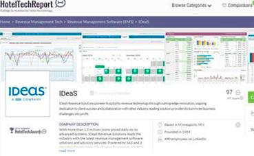 IDeaS, 'Mejor Solución Revenue Management'