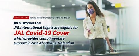 JAL ofrece cobertura Covid-19 a los pasajeros