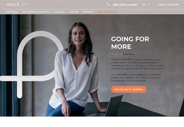 Meliá mejora su canal 'online' para los profesionales