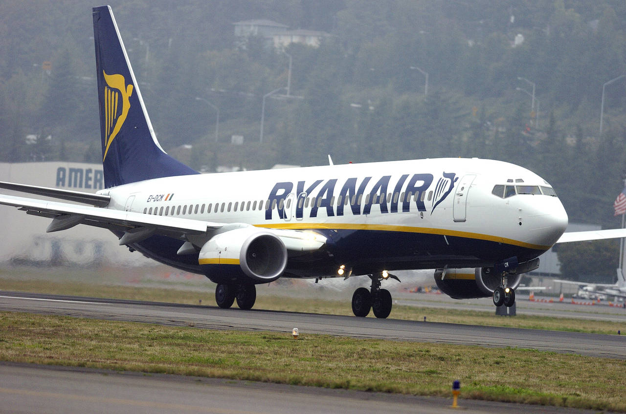 Ryanair aumenta su tráfica aéreo un 4% en julio