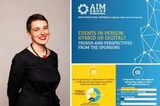 Los patrocinadores desean regresar a los eventos face to face, según AIM Group