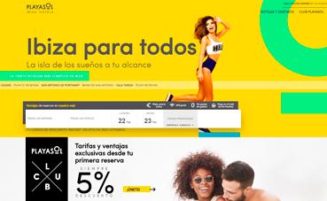 Playasol Ibiza Hotels lanza su nueva 'web' corporativa