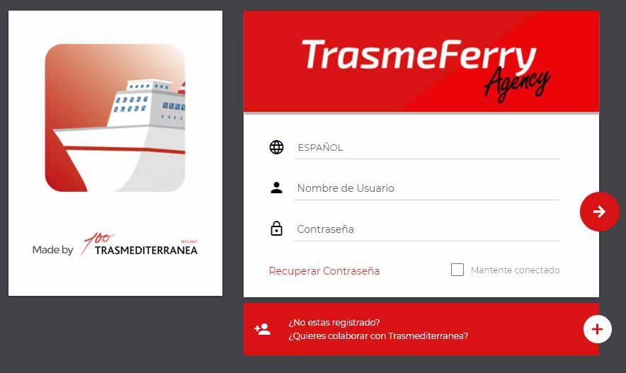 Trasmediterranea lanza una nueva B2B para agencias